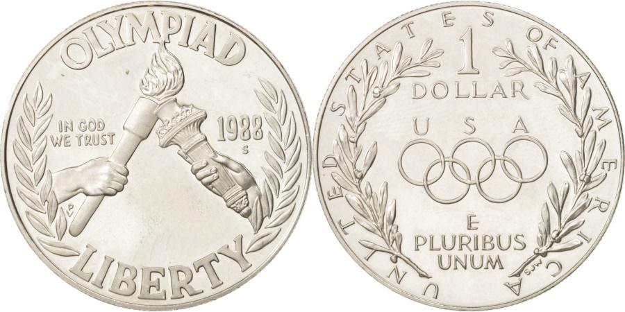 US Coins - United States, Dollar, 1988, U.S. Mint, San Francisco, , Silver, KM:222