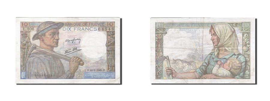 World Coins - France, 10 Francs, 1941, KM:99e, 1945-04-26, EF(40-45), Fayette:8.14
