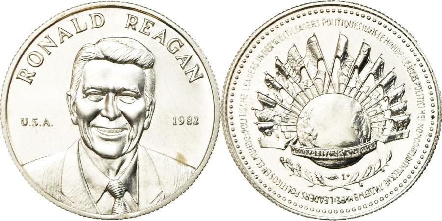 US Coins - United States of America, Medal, Ronald Reagan, Président des Etats-Unis, 1982