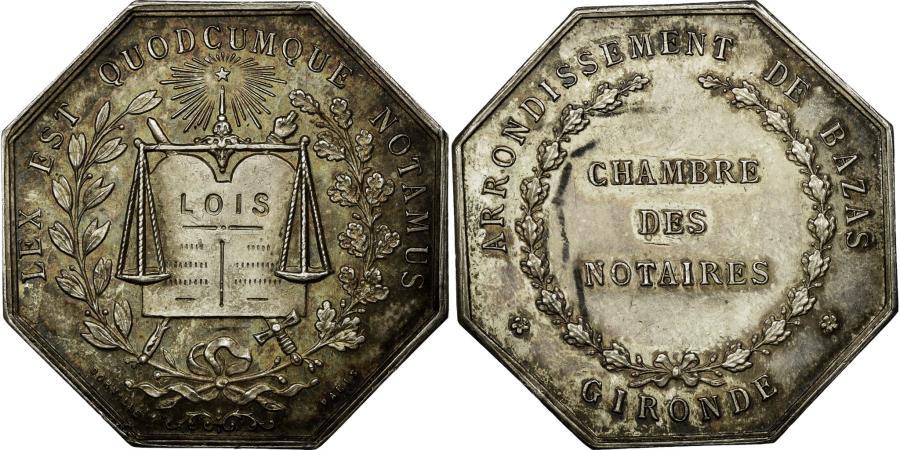 World Coins - France, Token, Notaires de l'Arrondissement de Bazas, Gironde, Dorville