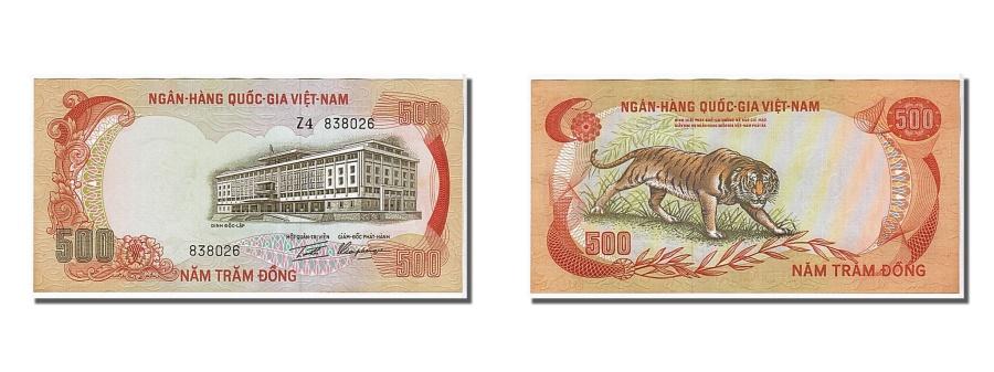 World Coins - South Viet Nam, 500 Dng, 1972, KM #33a, UNC(65-70), 838926