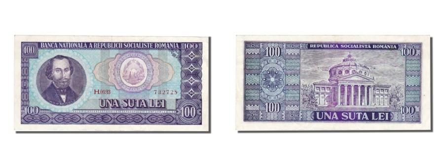World Coins - Romania, 100 Lei, 1966, KM #97a, UNC(60-62), H 0193