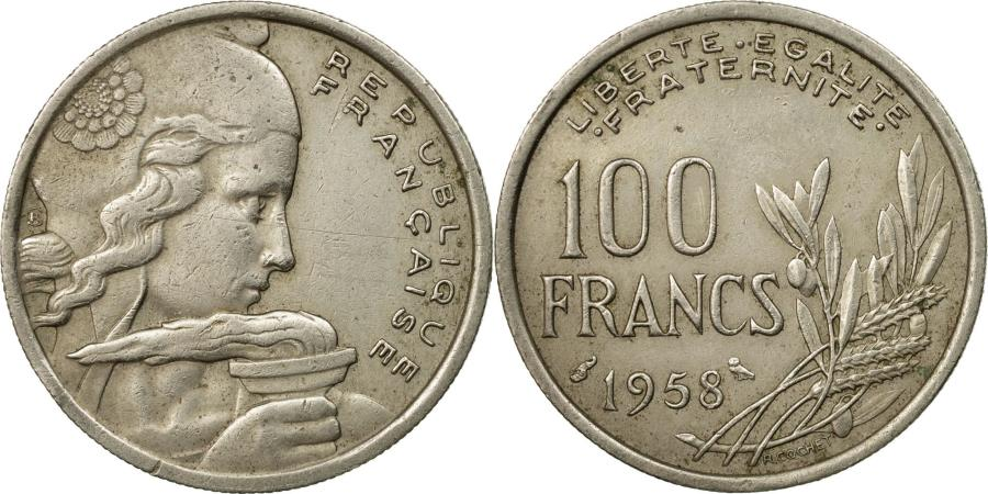 World Coins - Coin, France, Cochet, 100 Francs, 1958, , Copper-nickel, KM:919.1