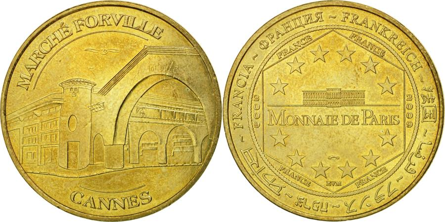 World Coins - France, Token, Touristic token, 06/ Cannes - Marché Forville, 2009, MDP