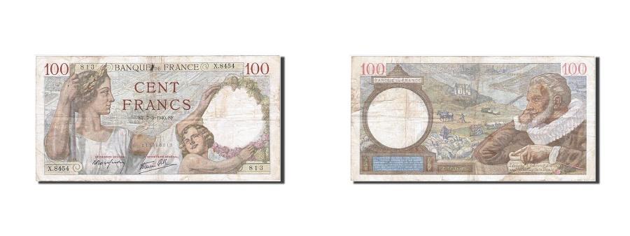 World Coins - France, 100 Francs, 100 F 1939-1942 ''Sully'', 1940, KM #94, 1940-03-07,...