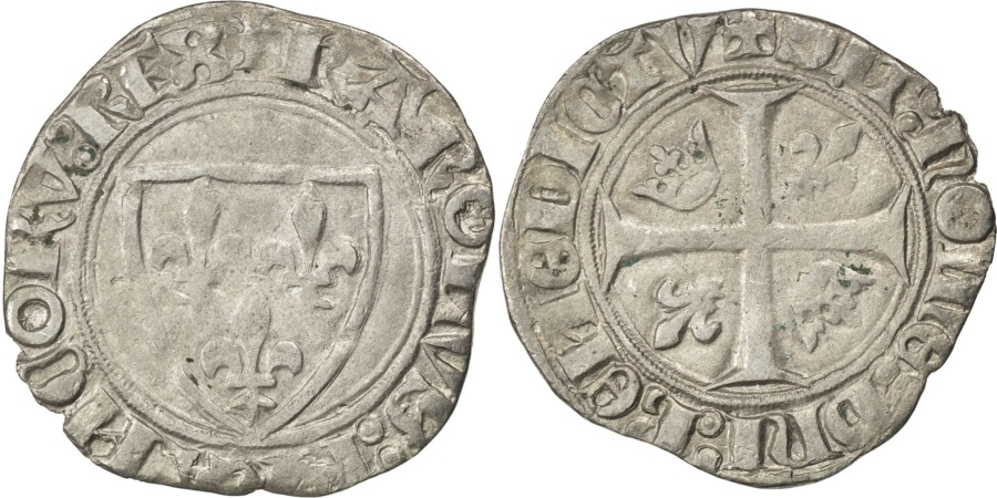 World Coins - FRANCE, Blanc, Romans, , Billon, Duplessy #377A, 2.09
