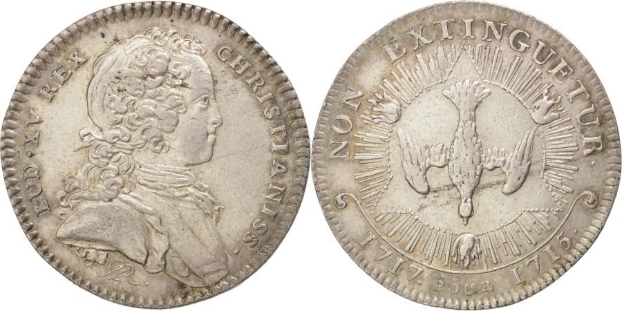 World Coins - France, Royal, Jeton, 1717, , Silver, Feuardent #1618, 7.44