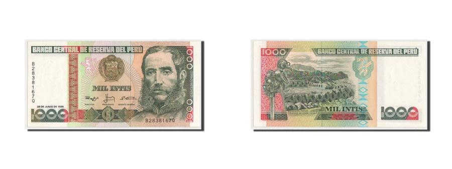 World Coins - Peru, 1000 Intis, 1988, KM #136b, UNC(64), B2838167Q