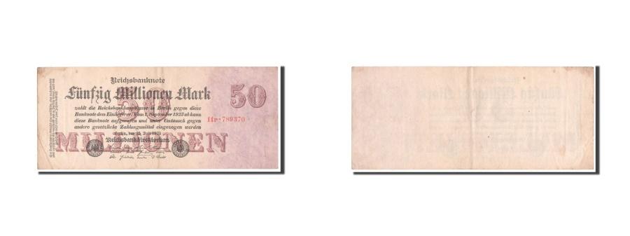 World Coins - Germany, 50 Millionen Mark, 1923, KM #98b, EF(40-45), 11P