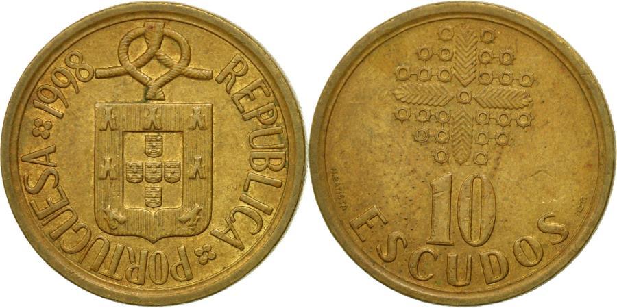World Coins - Coin, Portugal, 10 Escudos, 1998, , Nickel-brass, KM:633
