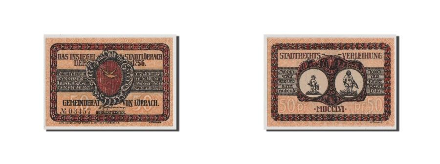 World Coins - Germany, Baden, 50 Pfennig, UNC(65-70), 03457, Mehl #813.1