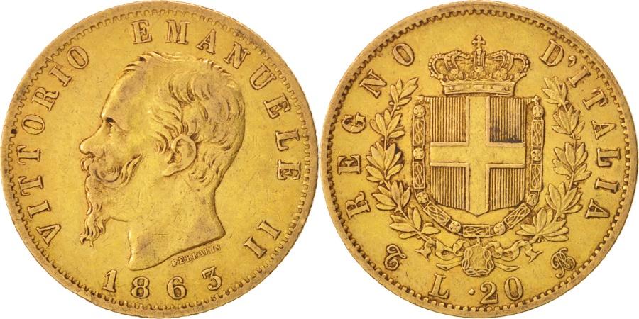 Italy vittorio emanuele ii 20 lire 1863 torino ef 40 for Coin torino