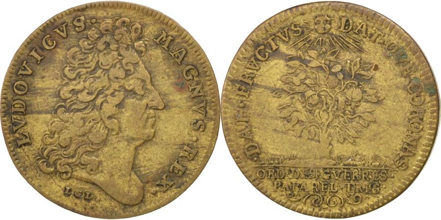World Coins - France, Royal, Token, , Brass, 25, Feuardent #913-924, 4.20