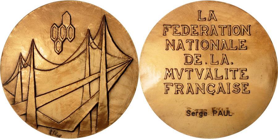 World Coins - France, Medal, fédération Nationale de la Mutualité Française, Roy