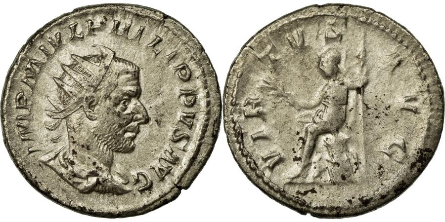 Ancient Coins - Coin, Philip I, Antoninianus, AU(50-53), Billon, Cohen:240