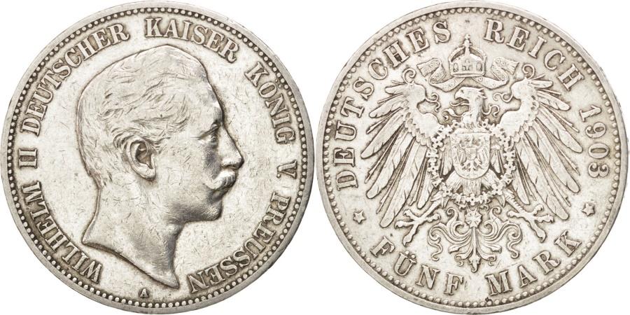 World Coins - German States, 5 Mark, 1903, Berlin, KM #523, , Silver, 38, 27.71