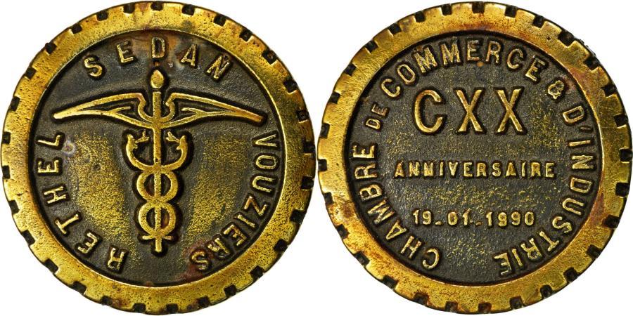World Coins - France, Medal, Chambre de commerce de Sedan, 1990, , Bronze