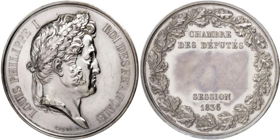 World Coins - FRANCE, Politics, Society, War, Louis Philippe I, Medal, 1836, , Caqué,