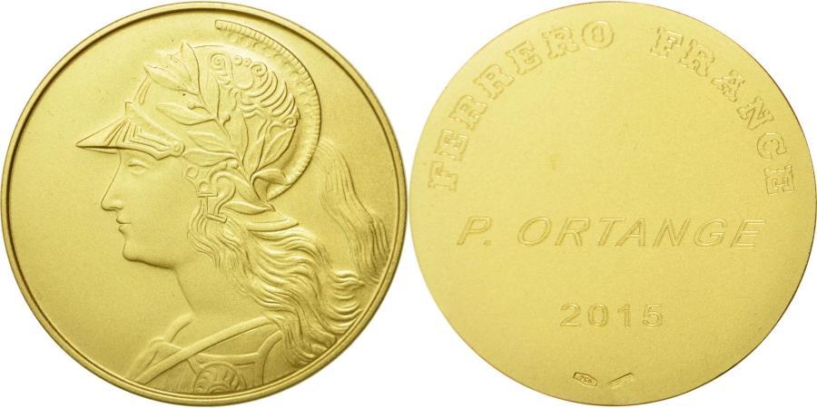 World Coins - France, Medal, Société Ferrero France, Marianne Casquée, 2015,