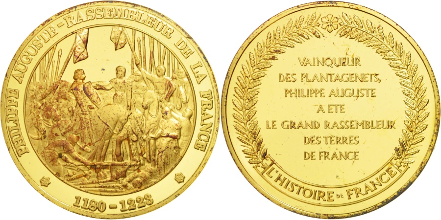 World Coins - FRANCE, History, French Fifth Republic, Medal, , Vermeil, 44, 38.30