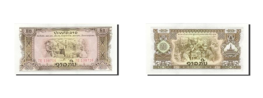 World Coins - Lao, 20 Kip, Undated, Undated, KM:21a, UNC(63)