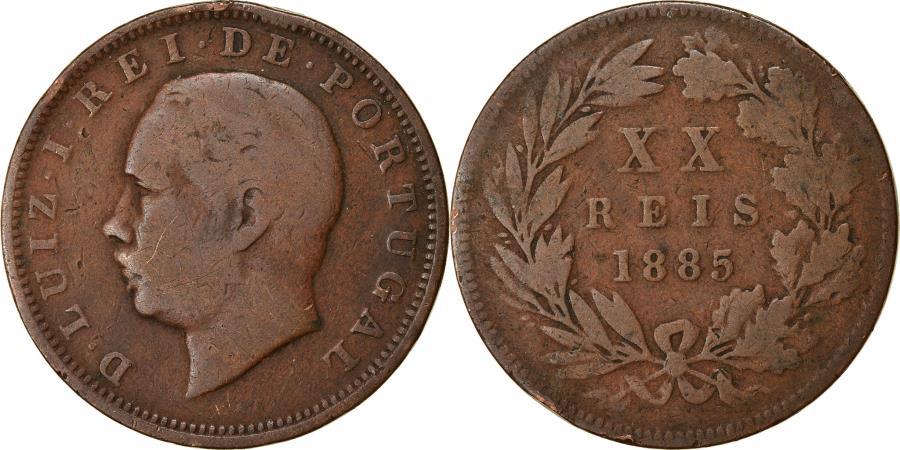 World Coins - Coin, Portugal, Luiz I, 20 Reis, 1885, , Bronze, KM:527