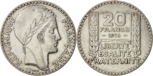 World Coins - France, Turin, 20 Francs, 1936, Paris, EF(40-45), Silver, KM:879, Gadoury:852
