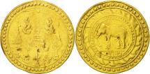 World Coins - Thailand, Rama IV, Pit, 4 Baht, 1863, VF(30-35), Gold, KM:14