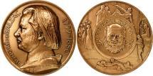 World Coins - France, Medal, Honoré De Balzac, Patriarche, MS(63), Bronze