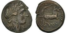 Ancient Coins - Sicily, Hiketas II, Syracuse, Litra, EF(40-45), Bronze, CNS:122