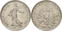 France, Semeuse, 5 Francs, 1970, Paris, AU(50-53), Copper-Nickel, KM 926a.1