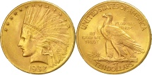Us Coins - United States, Indian Head, $10, 1932, Philadelphia, AU(55-58), Gold, KM:130