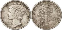 United States, Mercury Dime 1942, Philadelphia, AU(50-53), KM 140