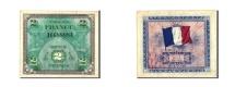 World Coins - France, 2 Francs, 1944 Flag/France, 1944, KM:114a, 1944, AU(50-53)