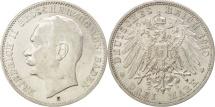World Coins - German States, BADEN, Friedrich II, 3 Mark, 1910, Stuttgart, Silver, KM:280