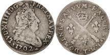World Coins - France, Louis XIV, 5 Sols aux insignes,1702, Nantes, VF(30-35), KM 337.18