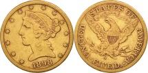 Us Coins - United States, Coronet Head, $5, 1898, San Francisco, EF(40-45,KM 101