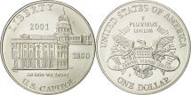 Us Coins - United States, Dollar, Capitol Visitor Center, 2001, MS(65-70), Silver, KM:324
