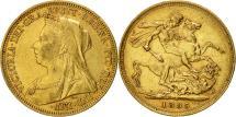 World Coins - Australia, Victoria, Sovereign, 1895, Sydney, EF(40-45), Gold, KM:13