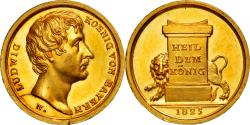 World Coins - Germany, Medal, Ludwig II, 1825, Coronation from Louis II from Bavaria,