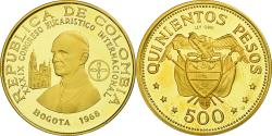 World Coins - Coin, Colombia, 500 Pesos, 1968, Bogota, , Gold, KM:234