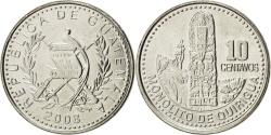 World Coins - GUATEMALA, 10 Centavos, 2008, KM #277.6, , Copper-Nickel, 21, 3.21