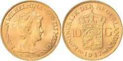 World Coins - Coin, Netherlands, Wilhelmina I, 10 Gulden, 1917, , Gold, KM:149
