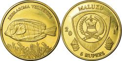 World Coins - Coin, Congo Democratic Republic, 5 Rupees, 2017, Maluku - Zebrasoma veliferum