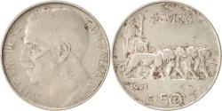 World Coins - Italy, Vittorio Emanuele III, 50 Centesimi, 1921, Rome, Nickel, KM:61.1