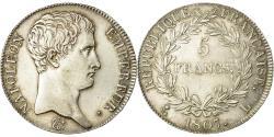 World Coins - Coin, France, Napoléon I, 5 Francs, 1807, Bayonne, , Silver, KM:673.8