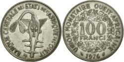 World Coins - Coin, West African States, 100 Francs, 1976, AU(50-53), Nickel, KM:4