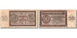 World Coins - Banknote, Spain, 50 Pesetas, 1936, 1936-11-21, KM:100a, F(12-15)