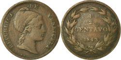World Coins - Coin, Venezuela, 1/2 Centavo, 1843, , Copper, KM:2