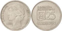 World Coins - PORTUGAL, 25 Escudos, 1982, KM #607a, , Copper-Nickel, 28.5, 10.95